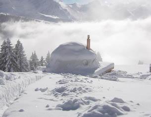 WhitePod, camp écologique en Suisse
