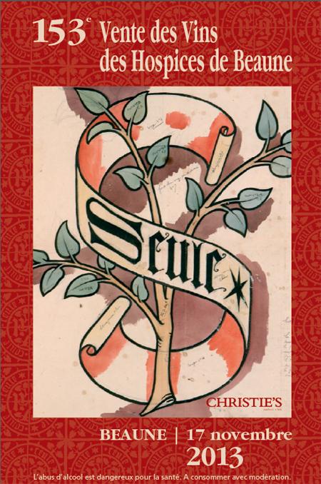 Affiche vente des vins des hospices de Beaune 2013