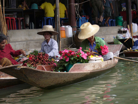 marché flottant de Damnoen Saduak,