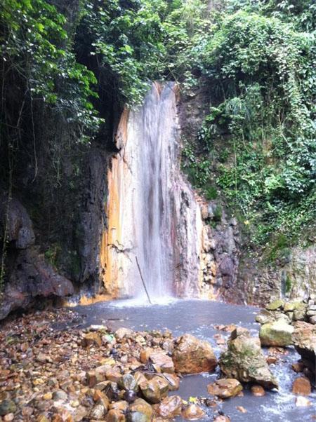 cascades à Sainte-Lucie
