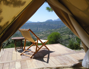 Escapades en éco-lodges sahariens en Provence