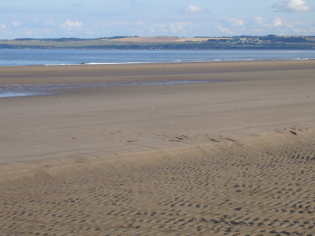 plage des West Sands en Ecosse