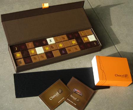 Message personnalisé en chocolat