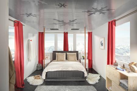 Une nuit dans un téléphérique avec Airbnb