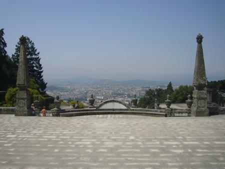 vue sur Braga depuis Bom Jésus