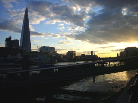 Vue sur la Tamise à Londres