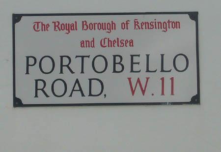 Portobello Road à Londres