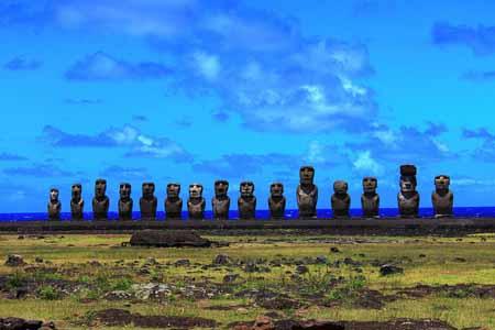 Ahu Tongariki, île de Pâques