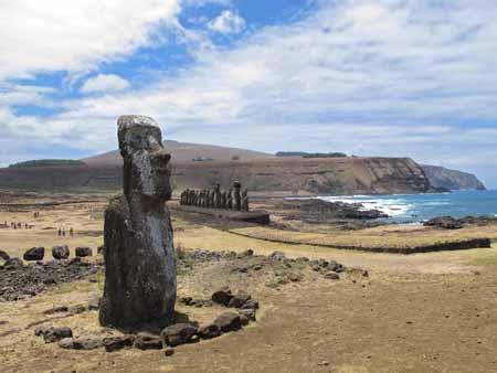 moaïs de l'île de Pâques