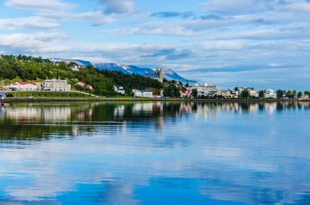 Akureyri, capitale du nord de l'Islande.