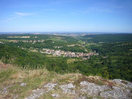 Les falaises de Saint-Romain à Orches