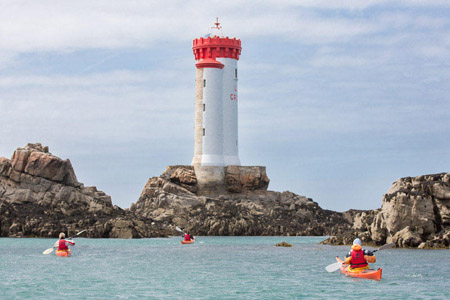 Balade en kayak au phare de la Croix