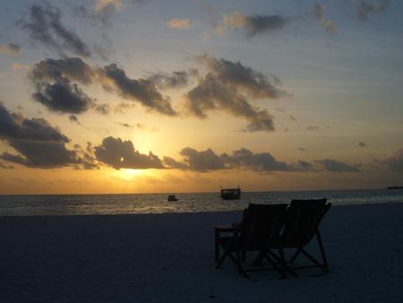 Coucher du soleil au Coco Palm
