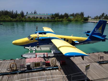 hydravion aux Maldives