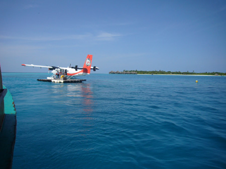 Hydravion, ponton du Coco Palm