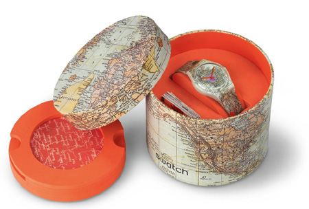 "montre Swatch ""This is my map"""