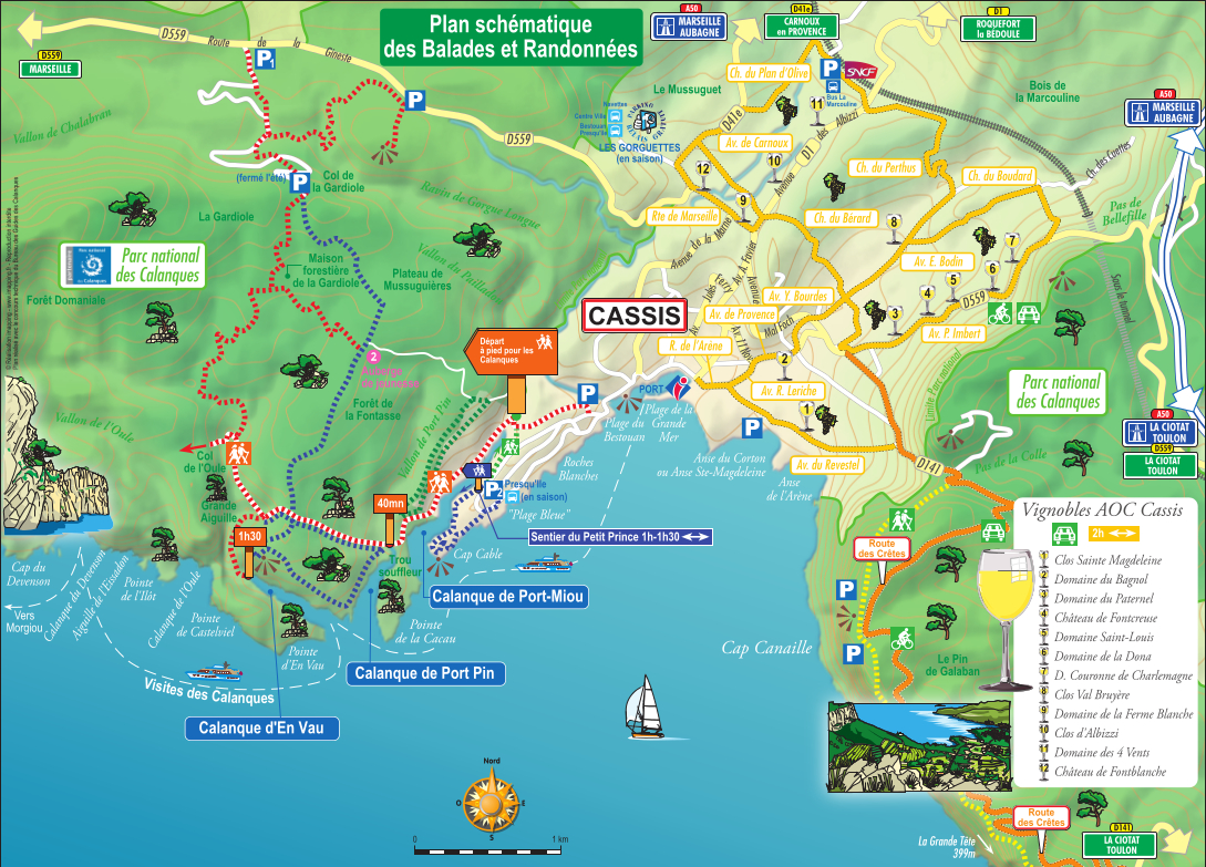 carte des calanques de cassis Balade aux calanques de Cassis et sur la route des Crêtes – Trendy