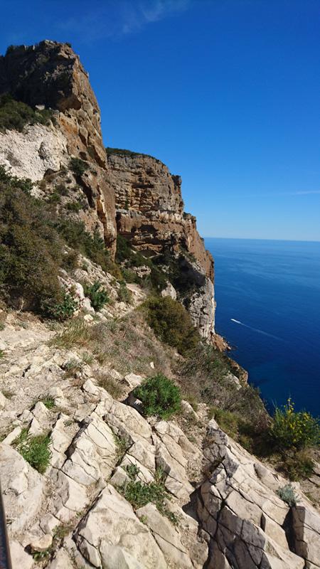 route des Crêtes entre Cassis et La Ciotat
