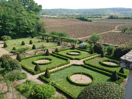 Les jardins du Château de Chamirey à Mercurey