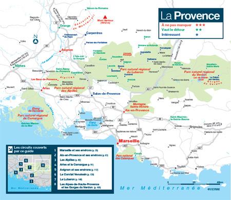 Guide Ulysse, carte de la Provence