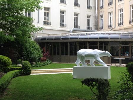 Le Grand Hôtel La Cloche à Dijon, les jardins