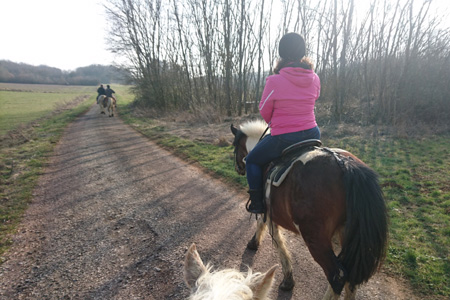 Balade à cheval dans la campagne bourguignonne