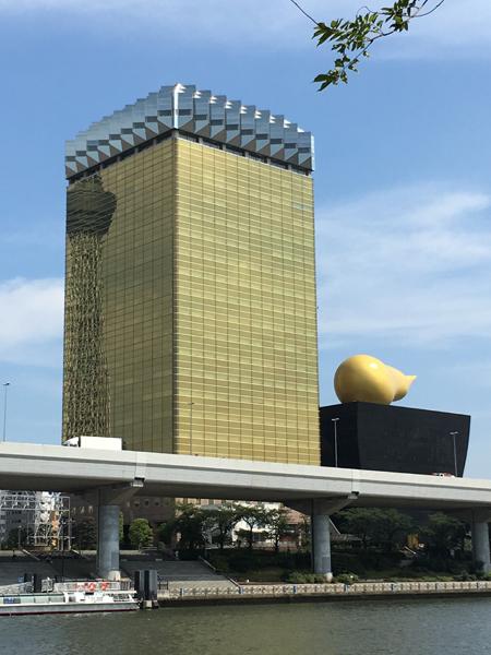 Skytree, au bord de la rivière Sumida
