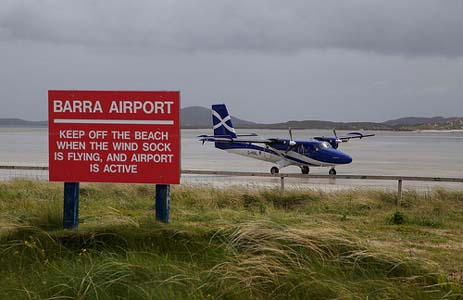 Aéroport Barra Eoligarry en Écosse