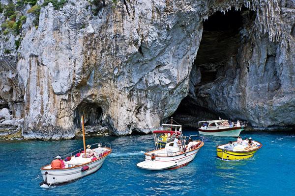 Les grottes à Capri